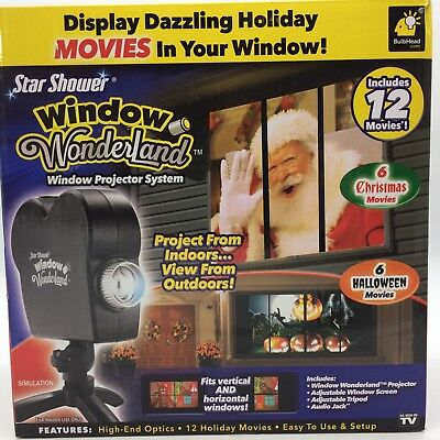 STAR SHOWER WINDOW WONDERLAND AS SEEN ON TV CHRISTMAS HALLOWEEN MOVIES PROJECTOR