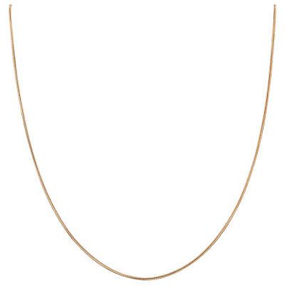 14k Rose Gold over Sterling Silver Vermeil 1mm Snake Chain Necklace 14k Vermeil Necklace