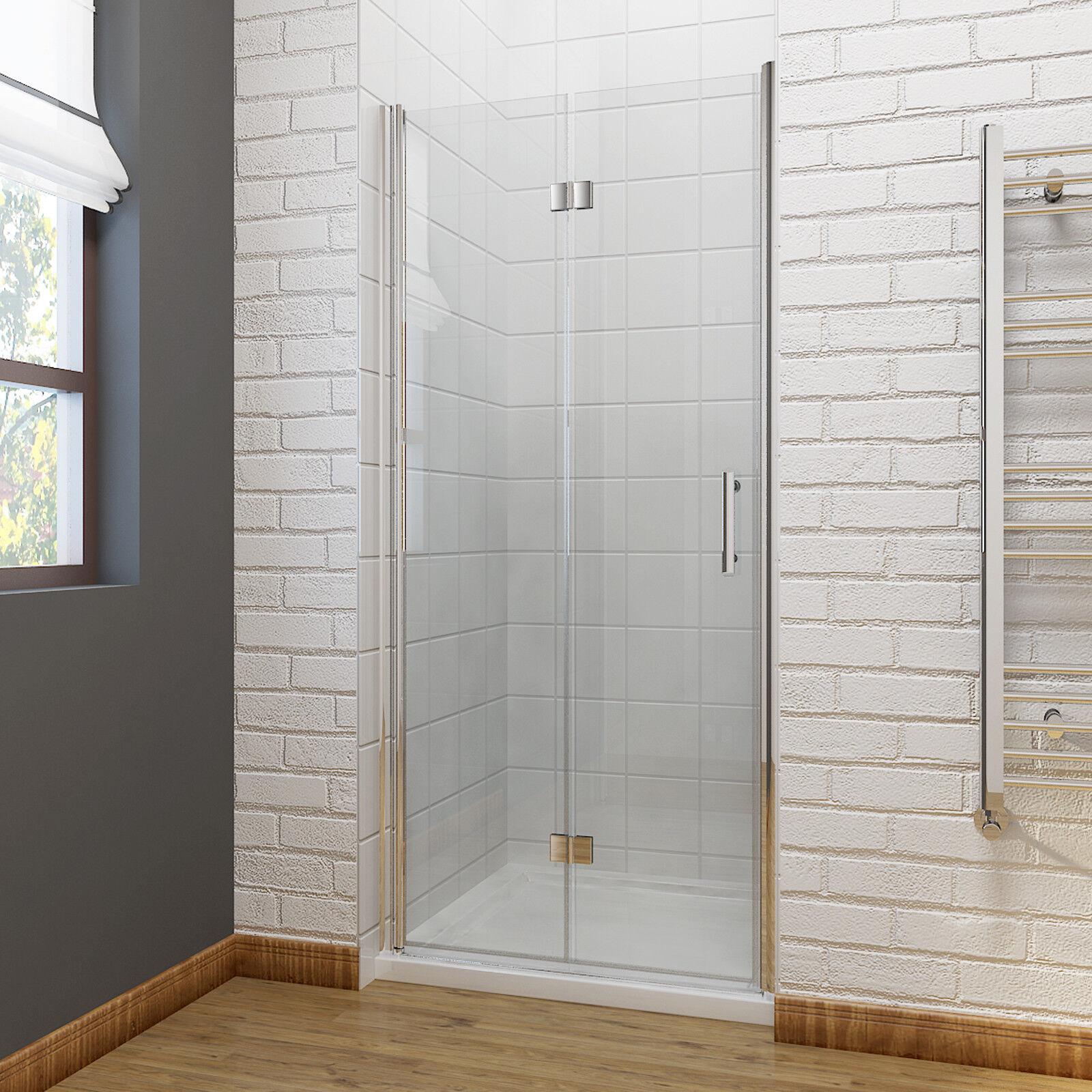Details About Bi Fold Door Frameless Shower Enclosure Tray Bathroom 6mm Glass Screen Modern