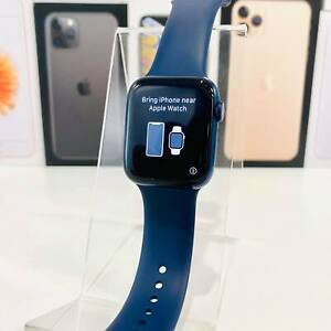 APPLE WATCH S6 44MM GPS&CELLULAR BLUE BOX PERFECT CONDITION RECEIPT&WA
