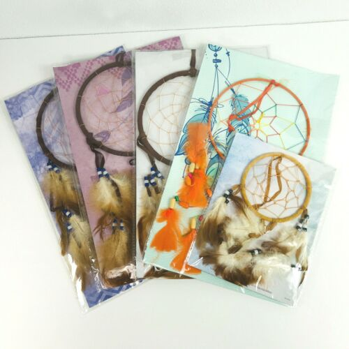 Legend of the Dream Catcher NIP Lot of 5 Brown Blue Orange Feathers Beads Crafts