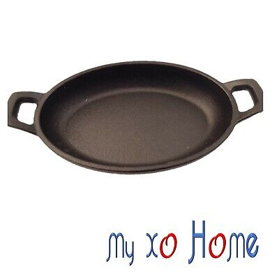 MyXOHome Oval Cast Iron Frying Pan / Skillet with Handles (1 Skillet)