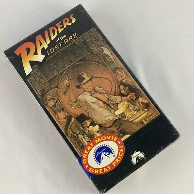 Raiders Of The Lost Ark VHS Movie Harrison Ford Steven Spielberg Indiana Jones