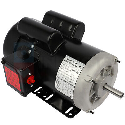 2hp Electric Motor Farm Single Phase 4 Pole 1750 Rpm 56 Frame Tefc 60 Hz Cwccw