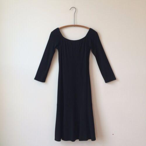 Ralph Lauren Black Label Drop Waist Black Knit Dress Sz 6 PERFECT