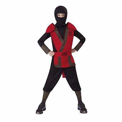 Classic Red Ninja Boy's Halloween Costume Child Size 4-6 Small #R33 - Red Ninja Costumes