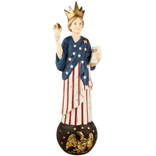 Bethany Lowe 4th Of July Patriotic American Flag Lady Liberty Decor Figurine