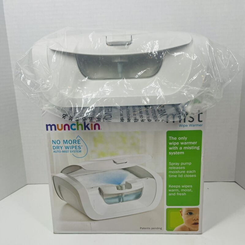 Munchkin Mist Wipe Warmer With Auto Mist. New Open Box. MKCA0431