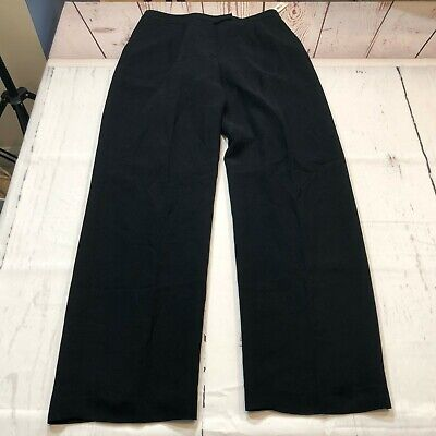DKNY City Women Flat Front Dress Pants Size 10 Black Acetate Blend - E33 Acetate Flat Front Pants