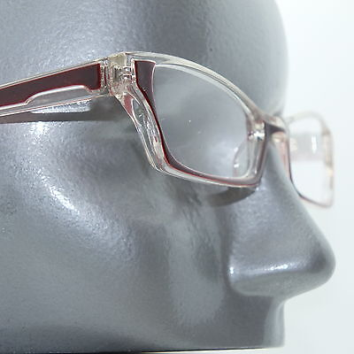 Ombre Red Pink Crystal Modern Cat Eye +1.25 Reading Glasses Wide Frame ()