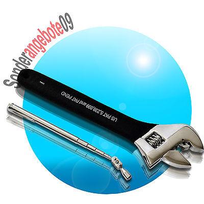 Rollgabelschlüssel 255mm 10Zoll +Teleskop-Pick-up Engländer Schraubenschlüssel