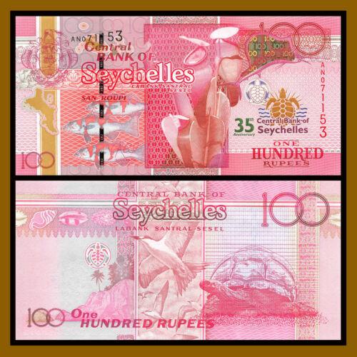 Seychelles 100 Rupees, 2013 P-47 Commemorative 35th Anniversary Central Bank Unc
