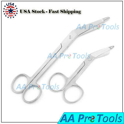 2 Heavy Duty Nurse Doctor Medical Lister Bandage Scissors Shears 3.5 7.25