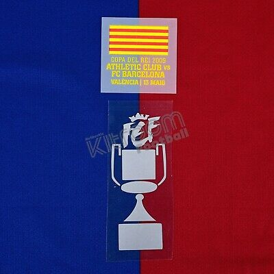 2008-09 Barcelona Copa del Rey Final 2009 vs Athletic Club Set Player...