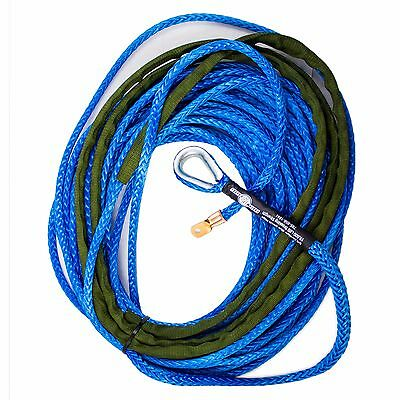 3/8 x 125' AmSteel Blue Main Line Synthetic Winch Rope Cable 8274 SUV Jeep Buggy Amsteel Blue Winch Line