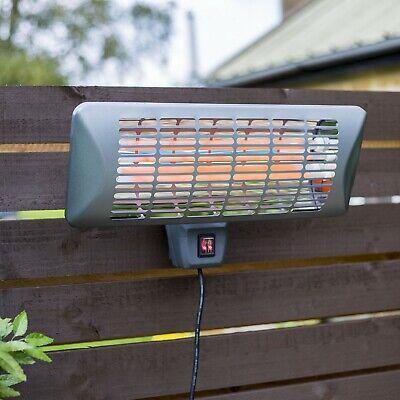 La Hacienda Wall Mounted Quartz Outdoor Garden Patio Heater Grey 2000W