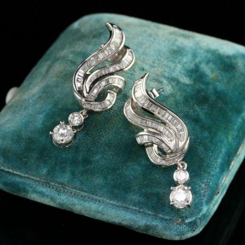Vintage Art Deco Engagement Dangle Drop Earring
