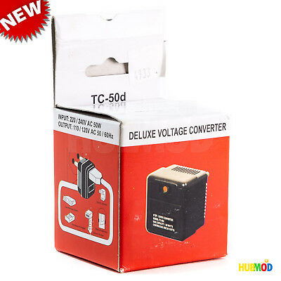 Deluxe Voltage Converter (PHC TC-50D Deluxe Step-Down Voltage Converter 50W 220/240V to 110/120 VAC NEW)
