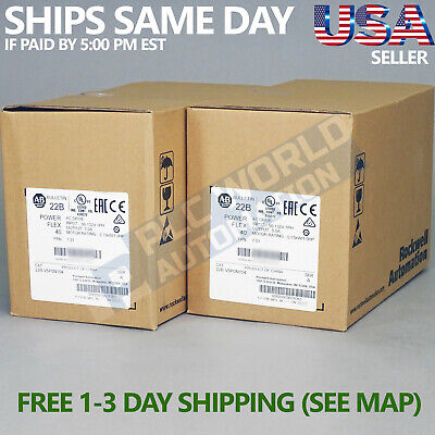 2020 New Sealed Allen Bradley 22b-v5p0n104 A Powerflex 40 Ac Drive 0.75kw 1hp
