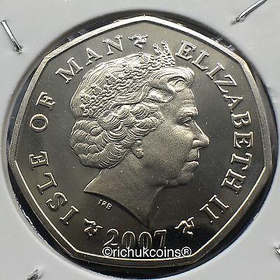 2007 IOM Xmas Diamond Finish 50p coin