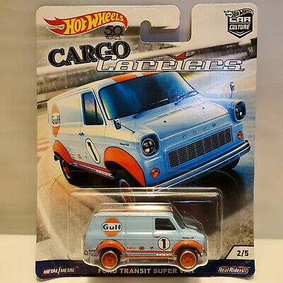 Hot Wheels Cargo Carriers Ford Transit Super Van Car Culture Real Riders NIP