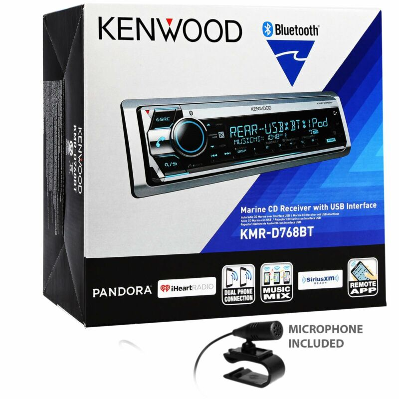 Kenwood KMR-D768BT Marine CD Receiver Bluetooth In-Dash CD/AM/FM Stereo Receiver