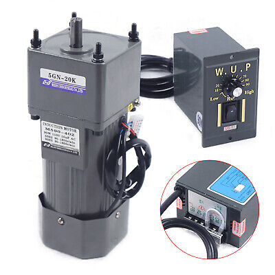 Single-phase 90w Gear Motor 120 67rpm Electric Motor Variable Speed Controller
