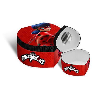 Portagioie Miracuolous Lady Bug cofanetto valigetta a forma di cuore 2039