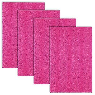 4x Anti-static Pink Foam Sheet 9-38 X 15 X 0.75 Pe Packing Shipping Firm