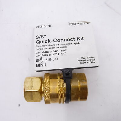38 Male Quick Connect X Female Npt Kit Pressure Washer Fittings 4500 Psi N4