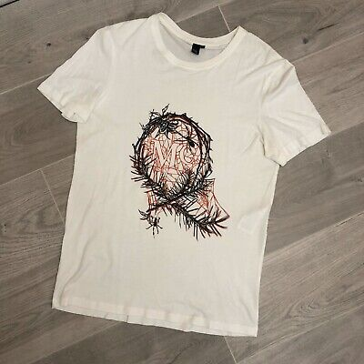 Alexander McQueen white print Spider T-shirt Medium M