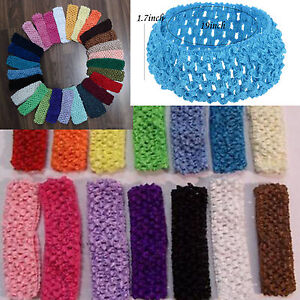 Crochet Hair On Sale : ... 10pcs-1-5-Crochet-Headbands-Hair-Hairband-Bow-Kid-Baby-Toddler-On-Sale