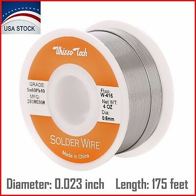 6040 Tin Lead Rosin Core Solder Wire Soldering Sn60 Pb40 Flux 0.0230.6mm 4oz