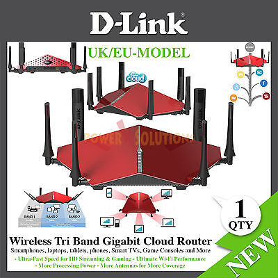 D-link Dir-890l Wireless Ac3200 Ultra Tri-band Gigabit Router 3200mbps Uk Eu