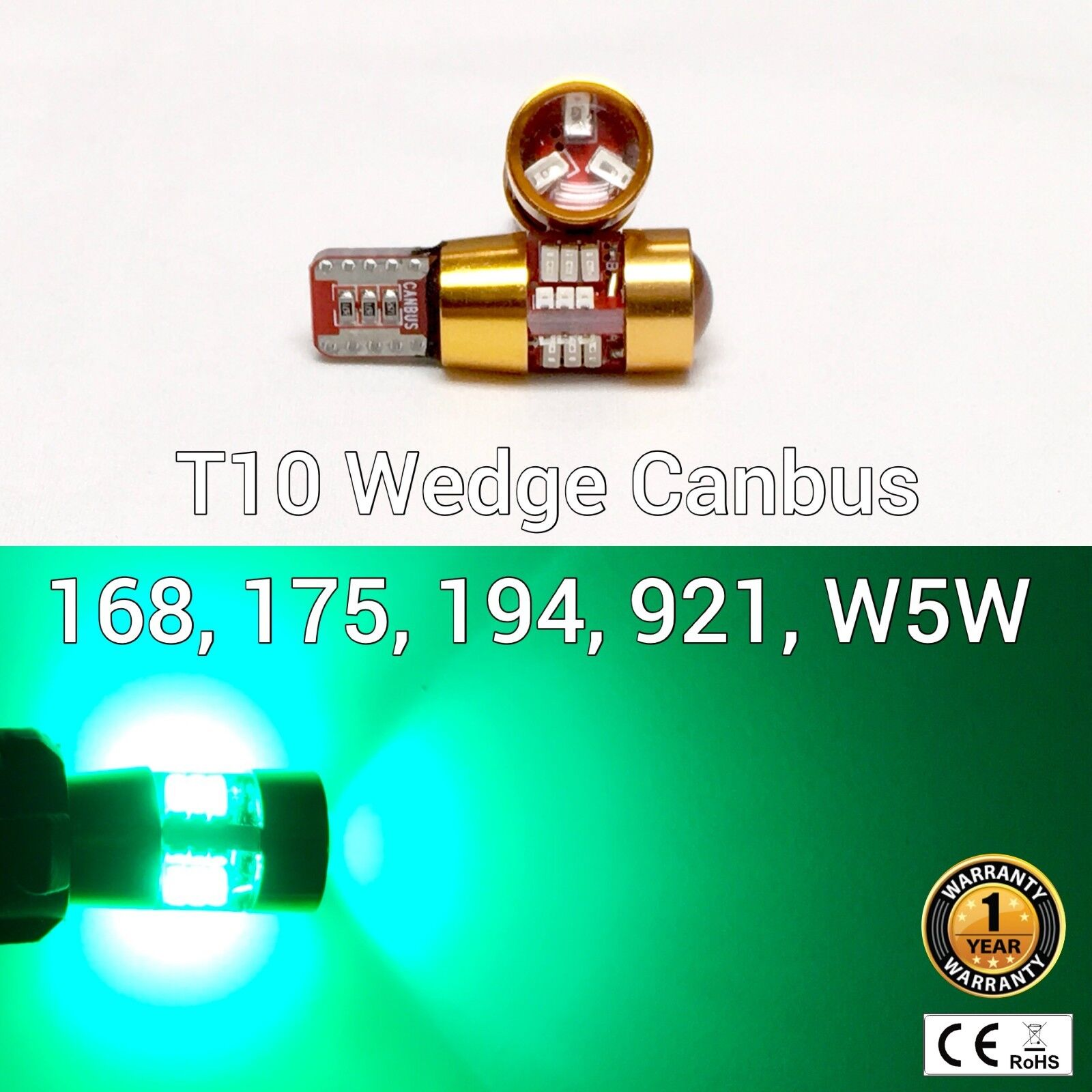 T10 W5W 194 168 2825 12961 Parking marker corner Light Green 27 SMD LED M1 MAR
