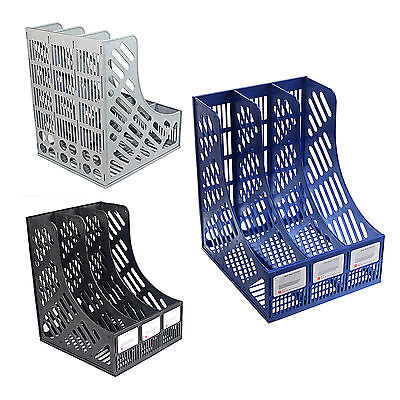 3 Tier Office Desk Document Paper File Magazine Organiser Holder Tray Rack Stand