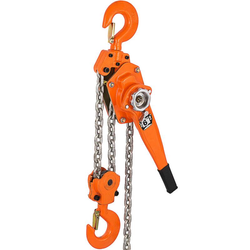 Lever Block Chain Hoist 6T 3M/10ft Chain Hoist Ratchet Lever Hoist with Hook