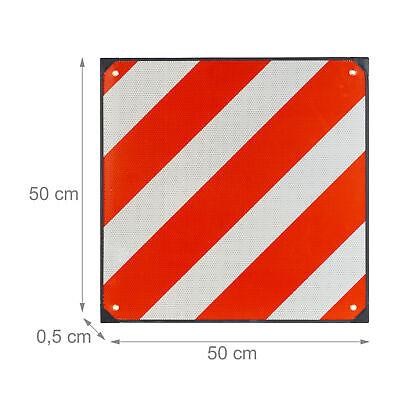Placa v20, Señal portabicicletas, Señalización carga saliente, Reflectante 50x50