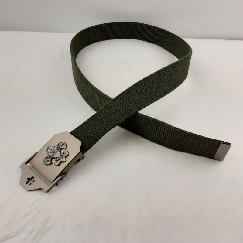 """Official Scouts BSA Olive Web Belt with Buckle 1.5"""" x 40"""""""