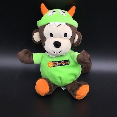 Just One You My First Halloween Monkey Plush Rattle Soft Toy 9