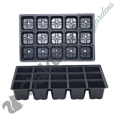 200 X 15 Cell Seed Tray Inserts Full Size Plug Trays Bedding Plant Pack