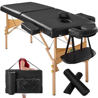 Massagetisch Massagebank Massageliege 2 Zonen schwarz B-Ware