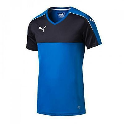 Puma Mens Accuracy Jersey Football Training Sports T-Shirt Blue 702214 02