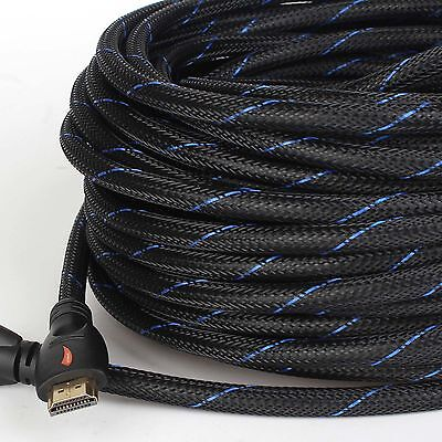 Short/Long Braided HDMI Cable 1080P@60Hz HD HDTV Video Audio Lead 3D Full HD 4K ()