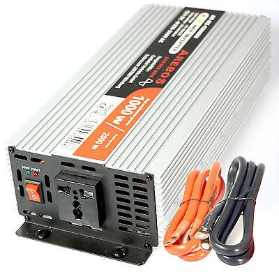 Arebos Spannungswandler Wechselrichter 1000 / 2000 Watt 12V 230V sinus
