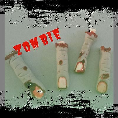 Zombie Cupcake (Zombie fingers edible sugar cupcake toppers (12))