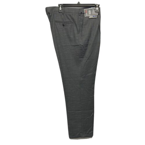 Roundtree & Yorke Travel Smart Classic Fit pleated Cuffed Pants 40×32 Charcoal Clothing, Shoes & Accessories