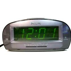 Philips AM FM Alarm Clock Radio Large Digital Display Grey AJ3540/37  CC