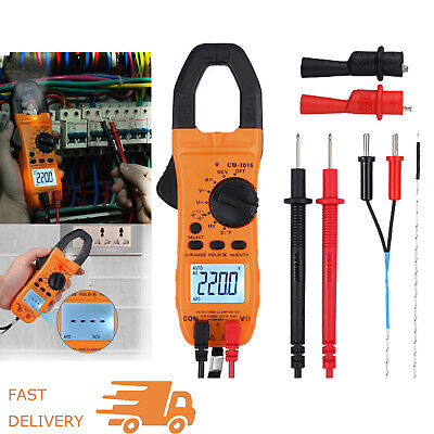 6000 Counts Trms Digital Clamp Meter Multimeter Acdc Volt Capacitance Tester Us