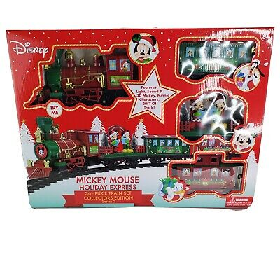 Disney Mickey Mouse Holiday Express 36 Piece Train Set Christmas Edition New